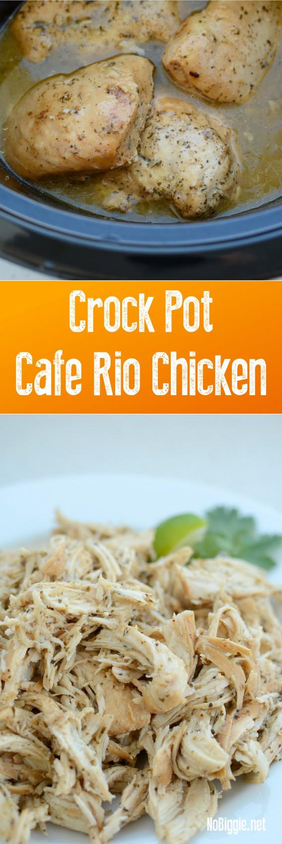 Cafe Rio Shredded Chicken Enchilada