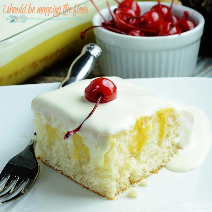 Dole Whip Poke Cake | 25+ Poke Cake Recipes
