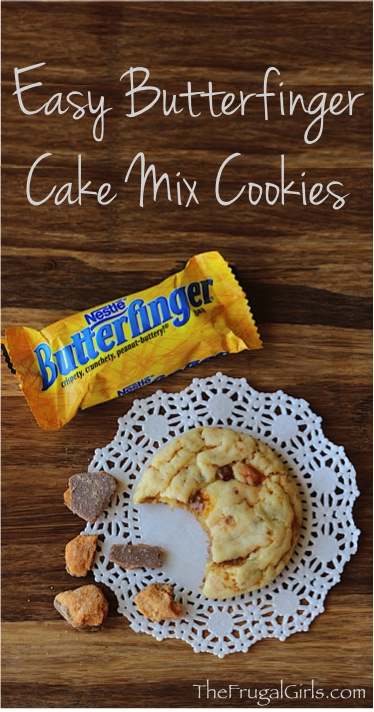 Easy Butterfinger Cake Mix Cookies | 25+ cake mix recipes