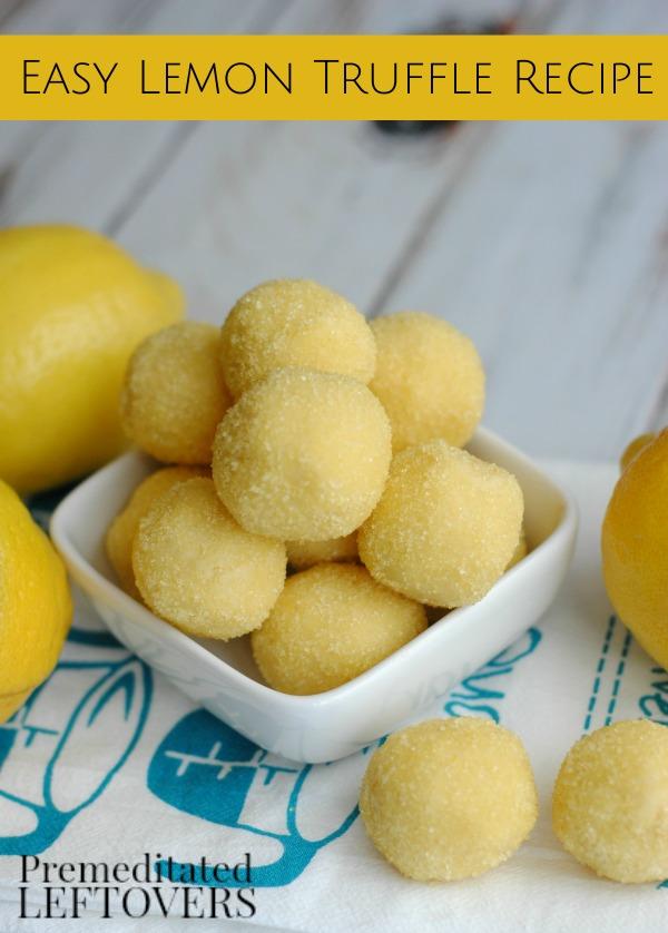 Easy Lemon Truffle Recipe | 25+ cake mix recipes