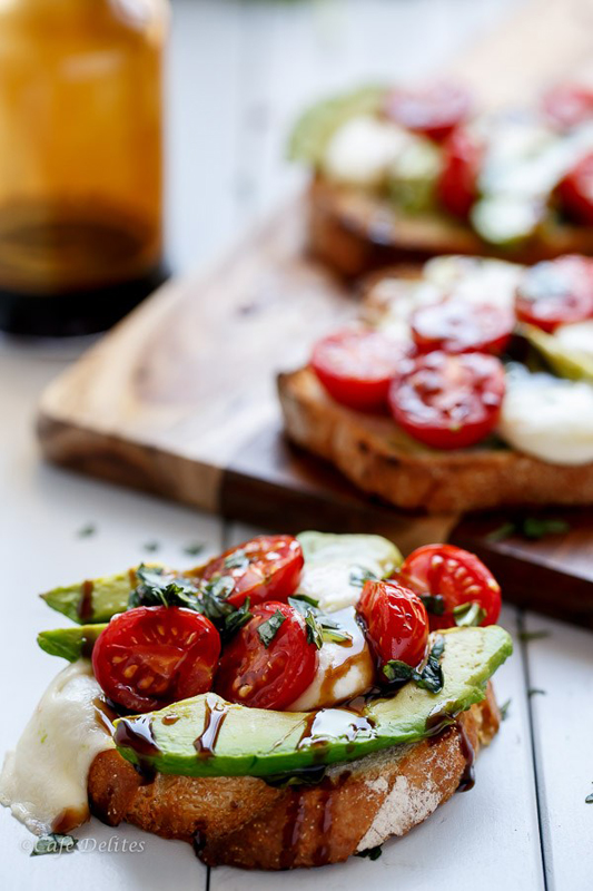 Grilled Avocado Caprese Crostini | 25+ Ways to Top Toast