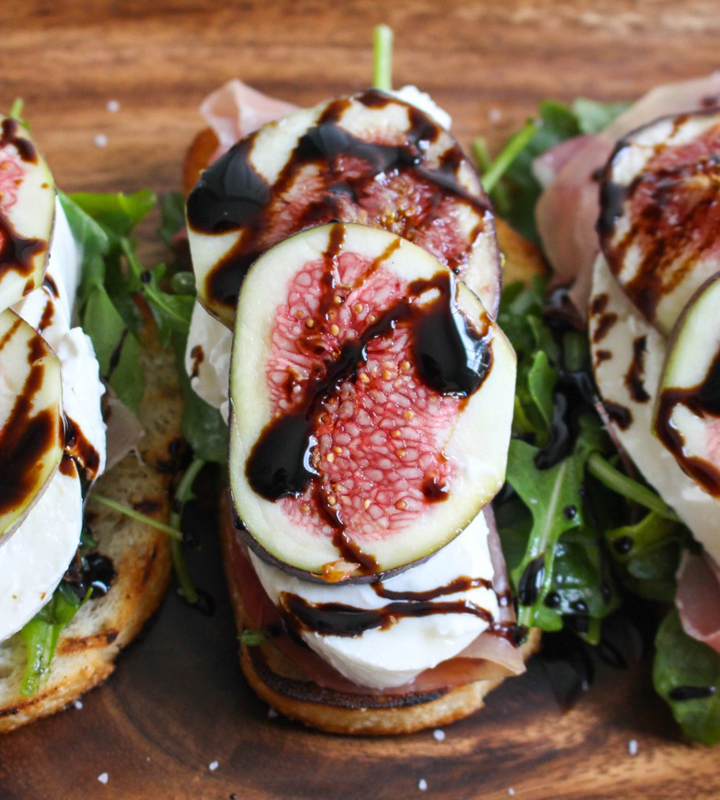 Grilled Crostini with Burrata, Figs & Prosciutto | 25+ Ways to Top Toast