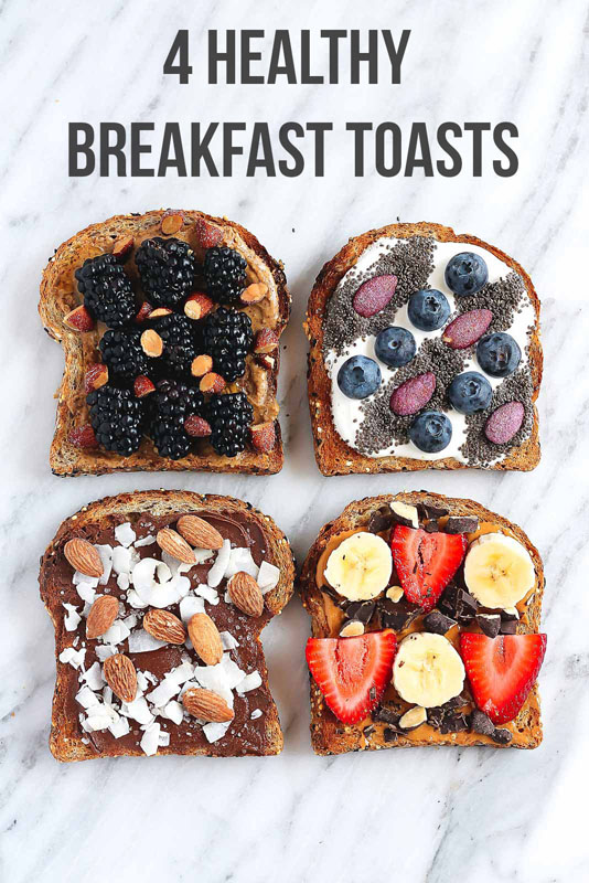Healthy Breakfast Toasts | 25+ Ways to Top Toast