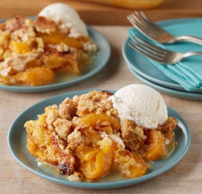 Peach Cobbler Dump Cake | 25+ cake mix recipes