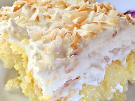 Pina Colada Poke Cake | 25+ Poke Cake Recipes