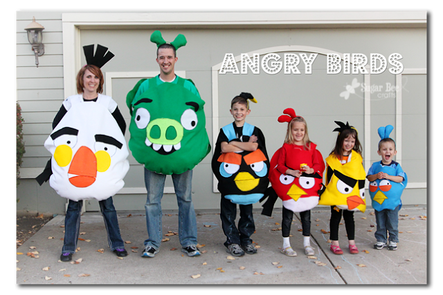 Angry Birds | 25+ Creative Family Costumes