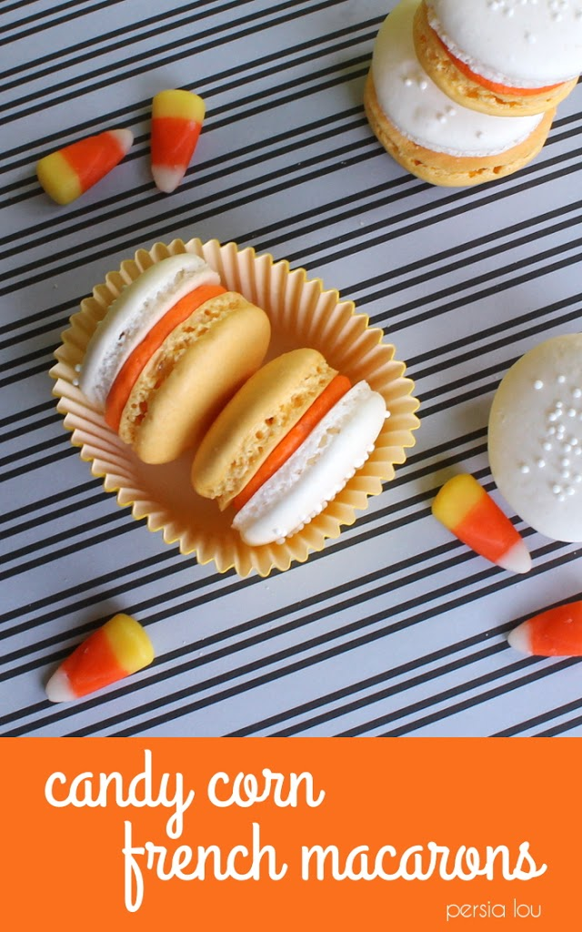 Candy Corn Colored French Macarons | 25+ Candy Corn recipes