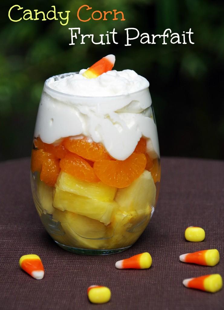 Candy Corn Fruit Parfait | 25+ Candy Corn recipes
