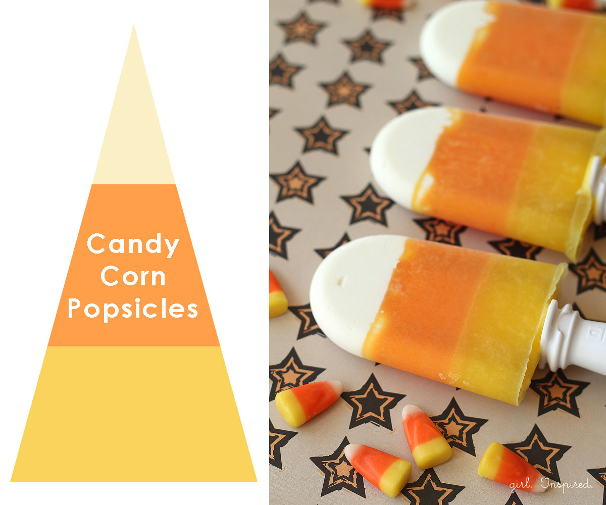 Candy Corn Popsicles | 25+ Candy Corn recipes