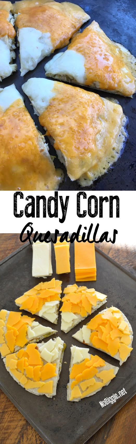 Watch the video for candy corn quesadilla | NoBiggie.net