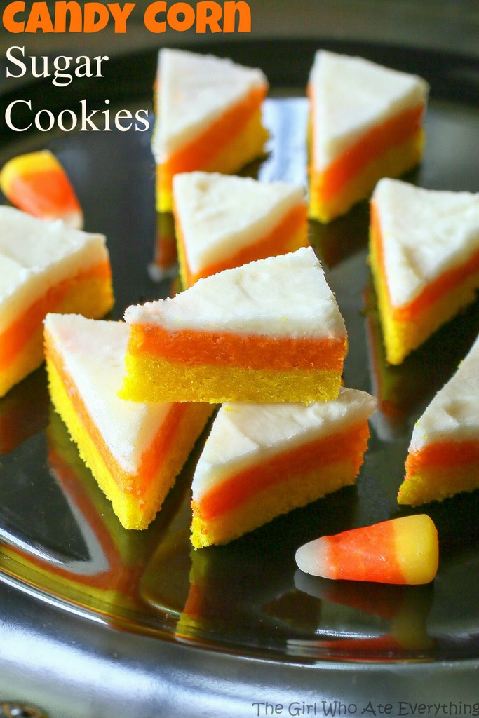 Candy Corn Sugar Cookies | 25+ Candy Corn recipes