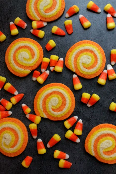 Candy Corn Swirl Cookies | 25+ Candy Corn recipes