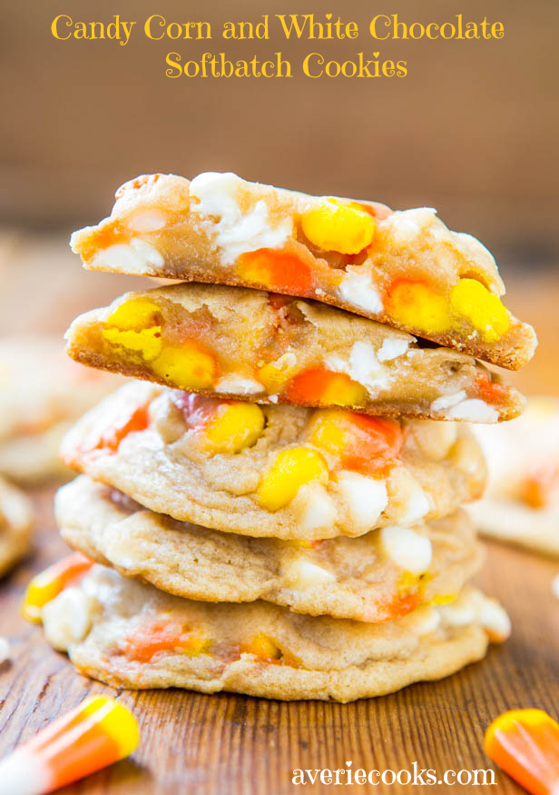 Candy Corn and White Chocolate Soft batch Cookies | 25+ Candy Corn recipes