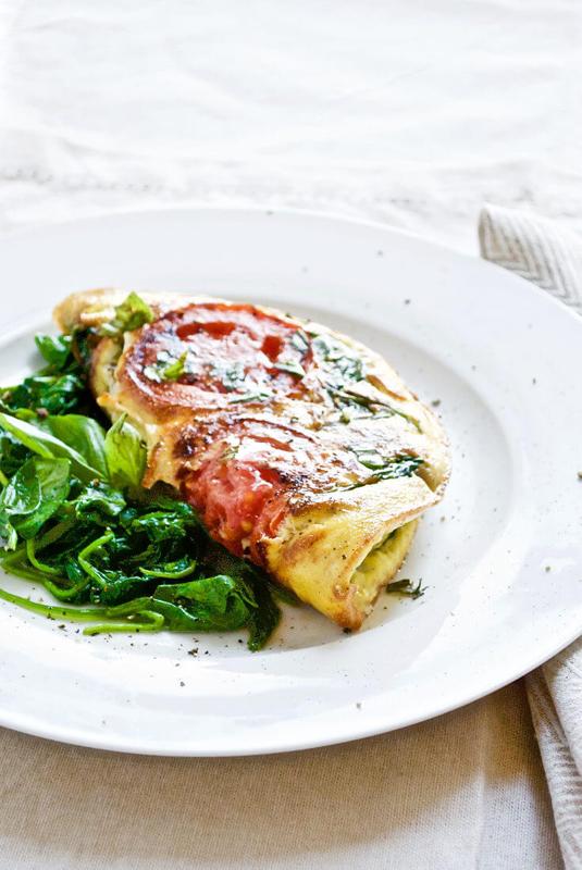 Caprese Omelet   25+ Mozzarella Recipes