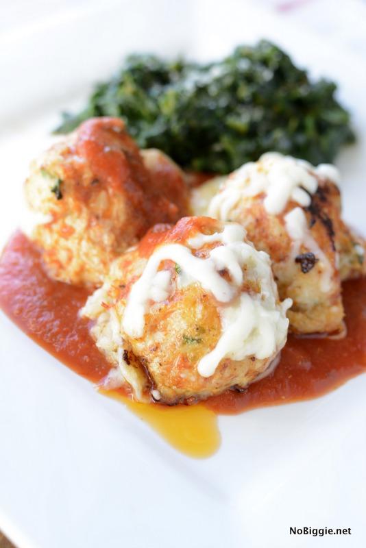 Chicken Parmesan Meatballs   25+ Mozzarella Recipes