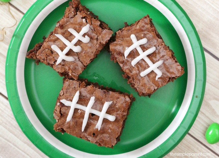 Football Brownies | 25+ Game Day Desserts