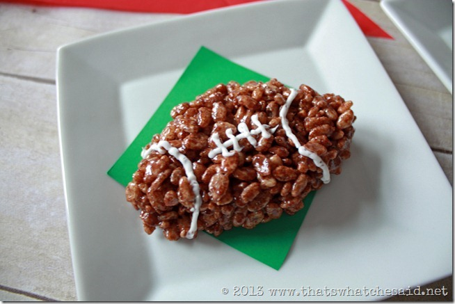 Football Rice Krispie Treats | 25+ Game Day Desserts