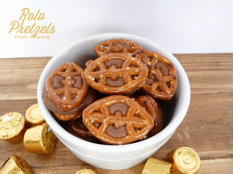 Football Rolo Pretzels | 25+ Game Day Desserts