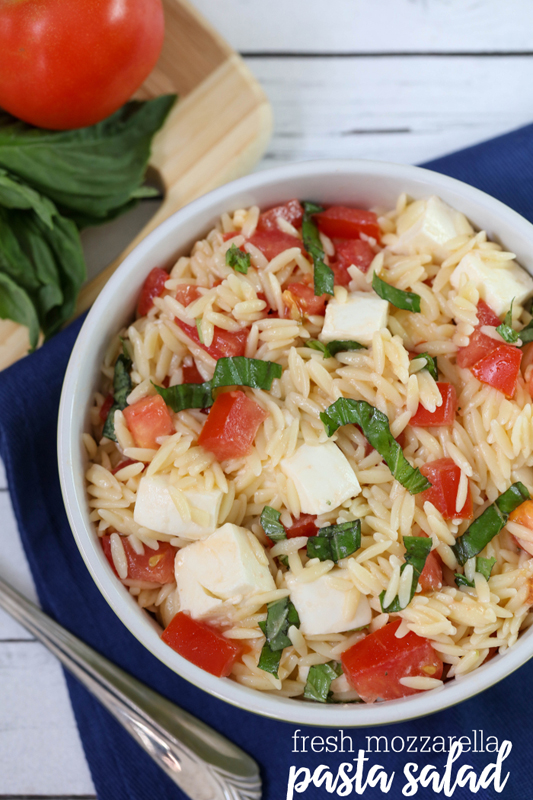 Fresh Mozzarella Pasta Salad   25+ Mozzarella Recipes