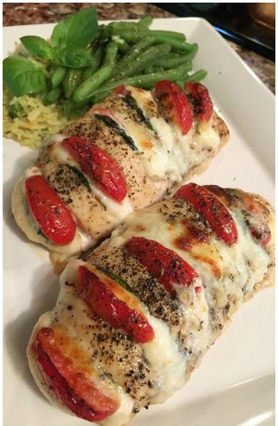 Hasselback Chicken   25+ Mozzarella Recipes