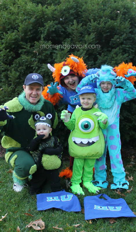 Monsters U | 25+ Creative Family Costumes