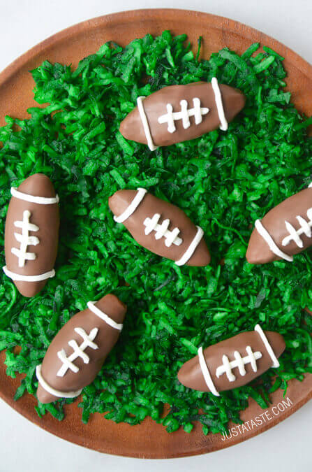 Nutella Chocolate Football Truffles | 25+ Game Day Desserts