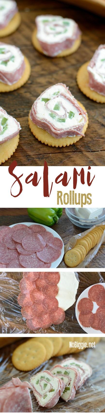 Salami Rollups Easy Appetizer | Watch the video | NoBiggie.net