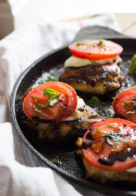 Skillet Chicken Caprese   25+ Mozzarella Recipes