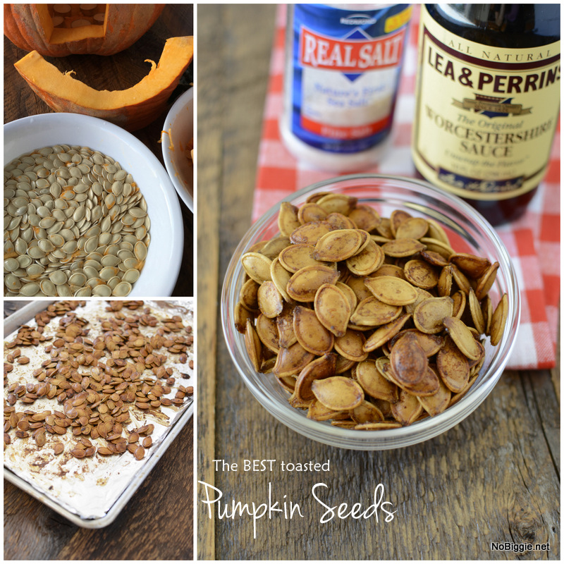 The BEST Toasted Pumpkin Seeds | NoBiggie.net