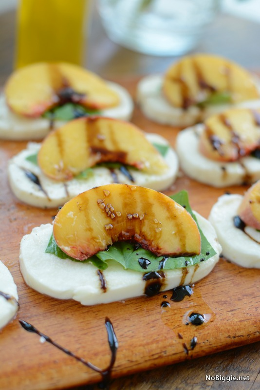 peach caprese salad with balsamic glaze | NoBiggie.net