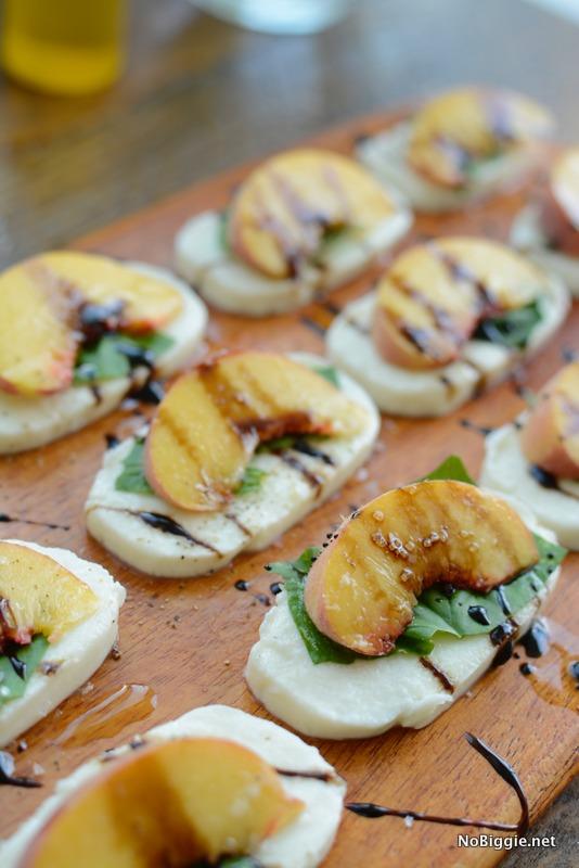 peach caprese salad | NoBiggie.net