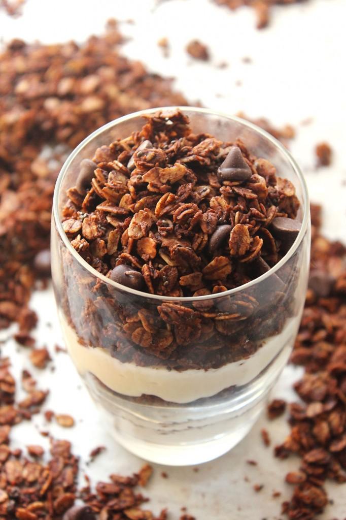 Skinny Dark Chocolate Chia Granola | 25+ Granola recipes