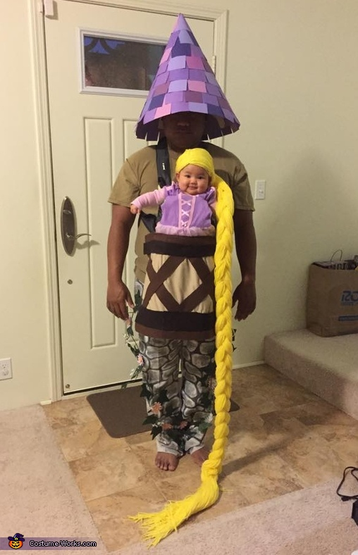Baby Rapunzel in her tower (baby carrier) |25+ Creative Costumes for Babies