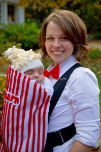 Bag of Popcorn Baby Carrier Costume |25+ Creative Costumes for Babies
