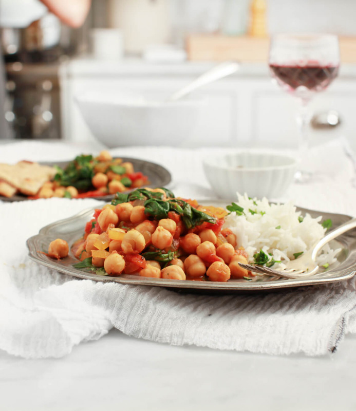 Chana Masala Spinach | 25+ Meatless Meals