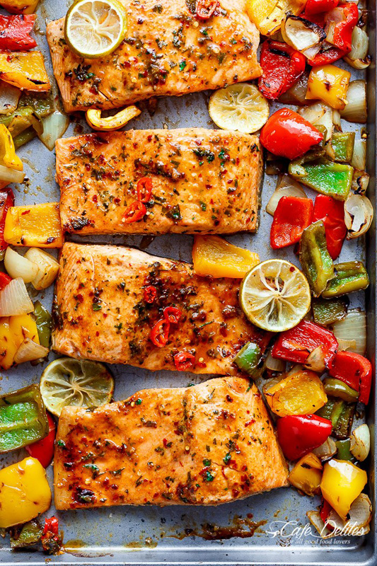 Chili Lime Salmon | 25+ Sheet Pan Dinner Recipes