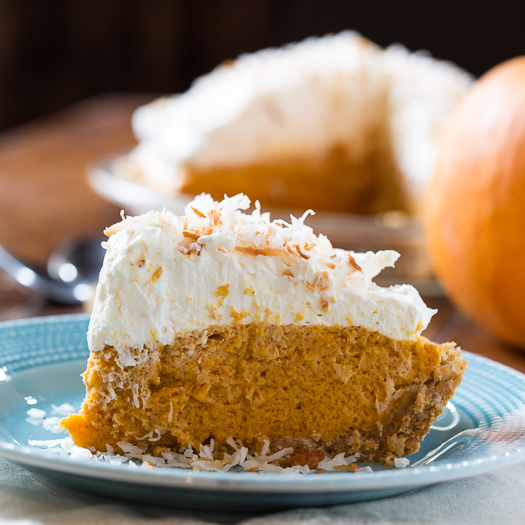 Coconut Pumpkin Chiffon Pie | 25+ Thanksgiving Pies