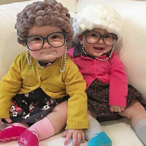 Grandma costume for baby |25+ Creative Costumes for Babies