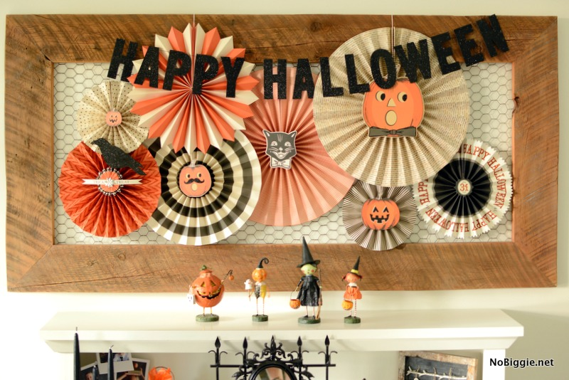 halloween decor paper fans - Halloween Decor 2016