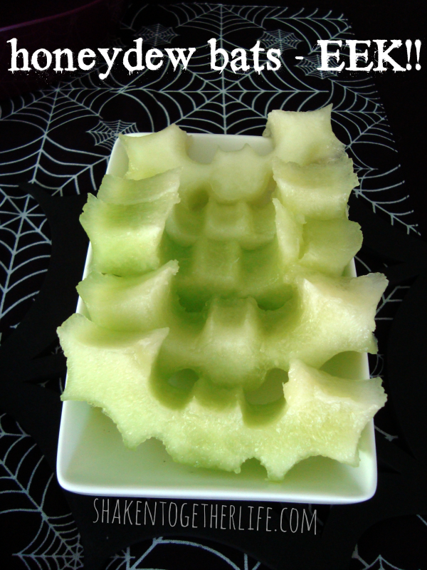 Honeydew bats | 25+ Healthy Halloween Food