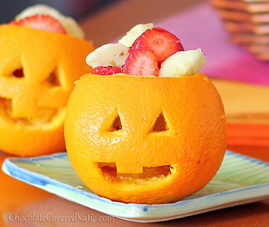 Jack-o-Lantern Oranges | 25+ Healthy Halloween Food