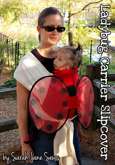 Ladybug Baby Carrier Slipcover |25+ Creative Costumes for Babies