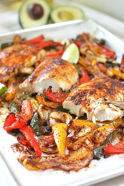 Mahi Fajitas | 25+ Sheet Pan Dinner Recipes
