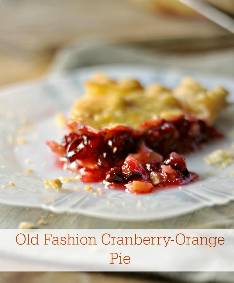 Old Fashion Cranberry Orange Pie | 25+ Thanksgiving Pies