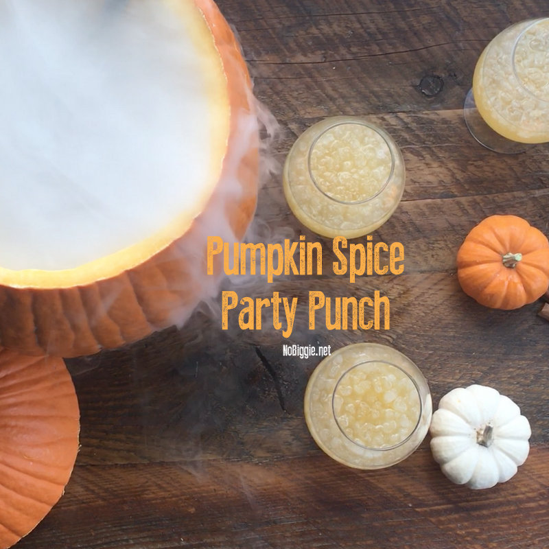 pumpkin spice punch with dry ice | NoBiggie.net