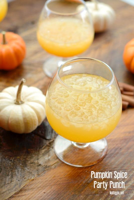 sparkling pumpkin spice party punch | NoBiggie.net