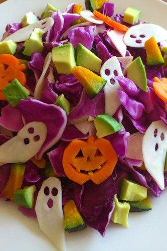 Purple Cabbage Salad for Halloween | 25+ Healthy Halloween Food