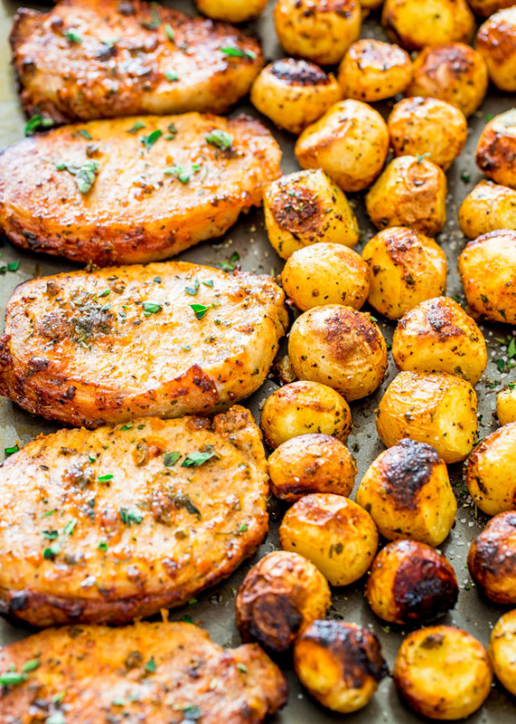 Ranch Pork Chops & Potatoes | 25+ Sheet Pan Dinner Recipes