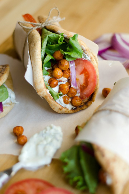 Roasted Chickpea Gyros | 25+ Meatless Meals
