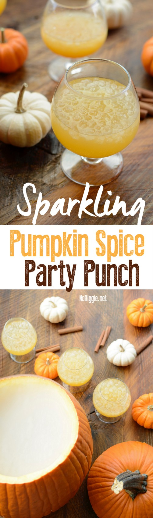 sparkling pumpkin spice party punch | NoBiggie.net